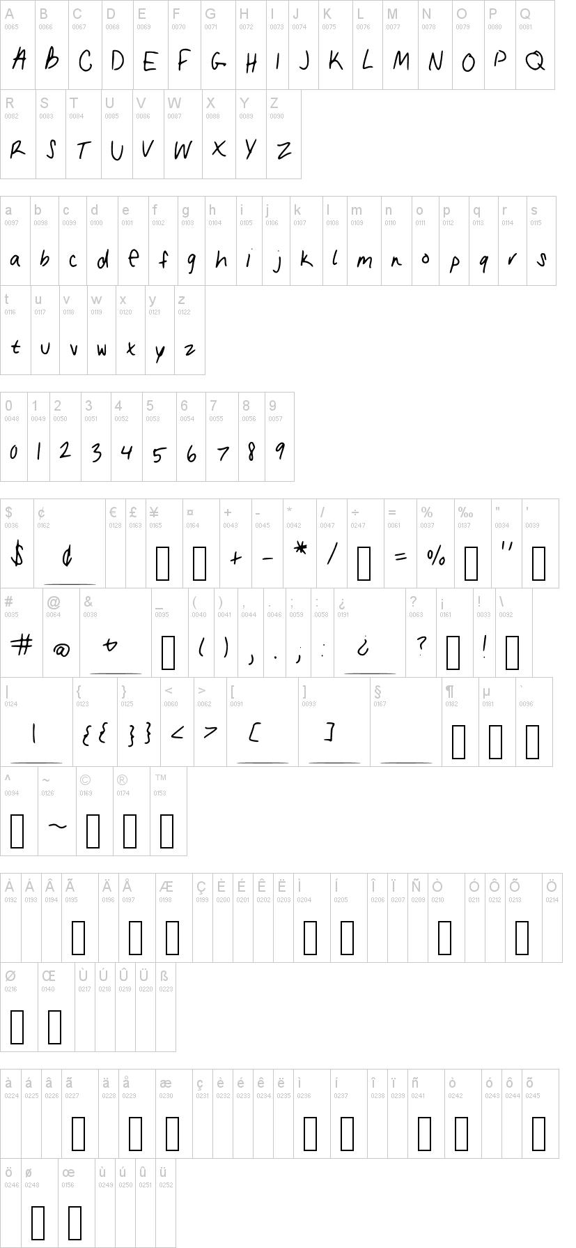 My Handwriting Font Dafont Com