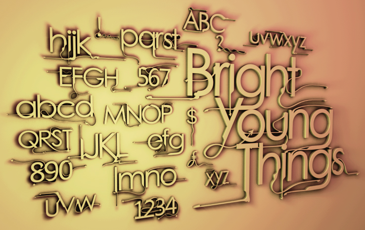 Download Bright Young Things Font | dafont.com