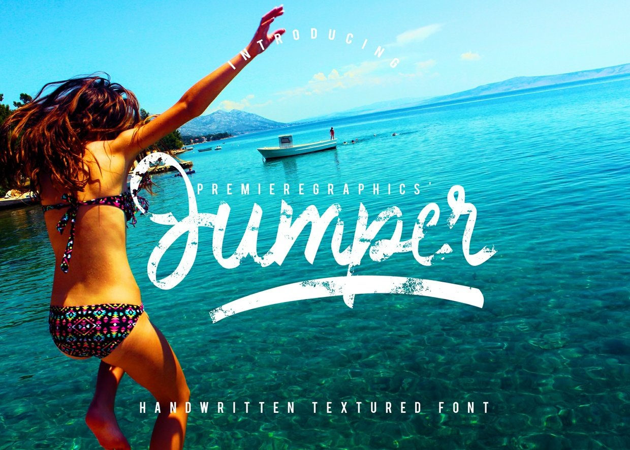 jumper-handwritten-textured-font