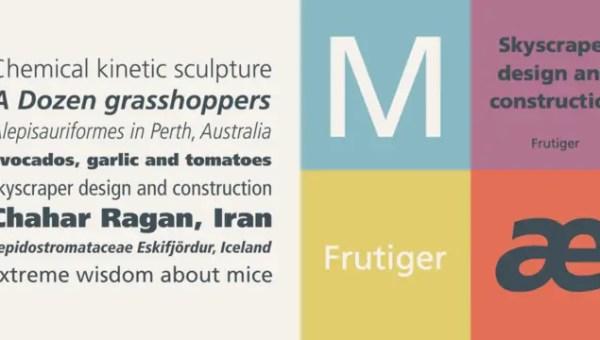 Frutiger Font