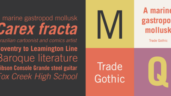 Trade Gothic Font Free Download