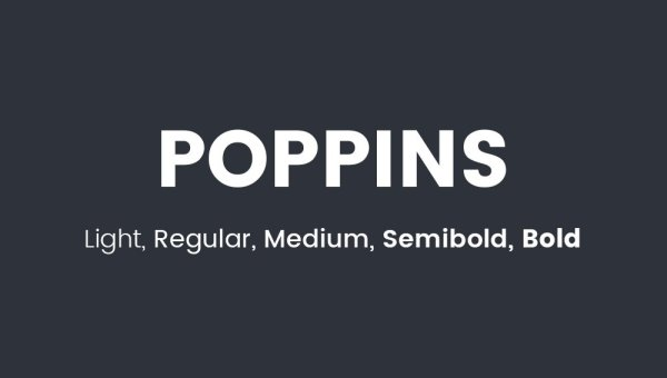Poppins Font Free Download