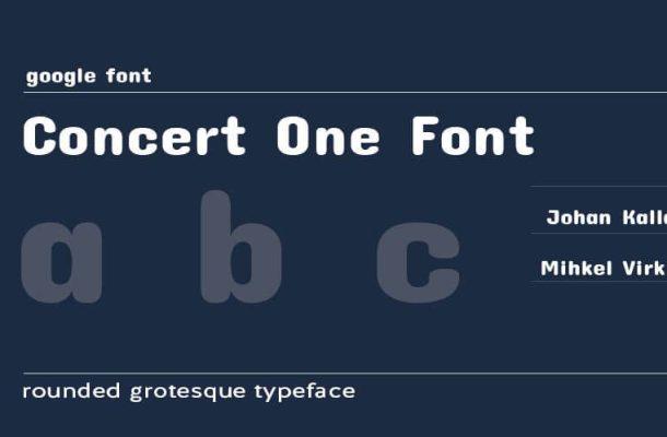 Concert One Font