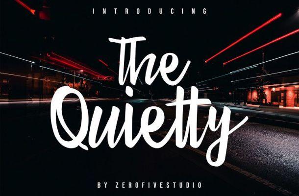 The Quietty Free Script Font