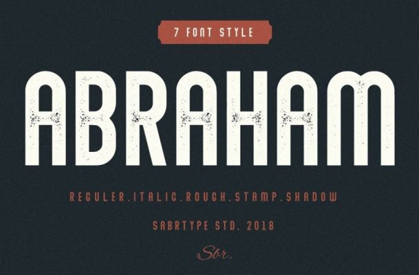 Abraham Font Family Free