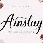 Ainslay Script Font Free
