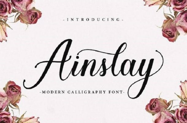 Ainslay Script Font Free