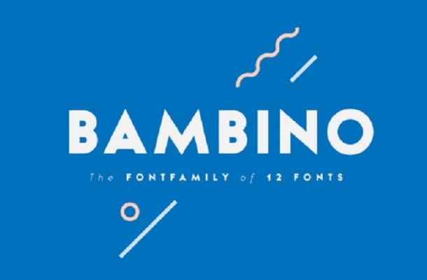 Bambino Font free