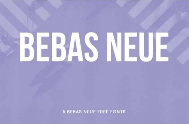Bebas Neue Font Family Free