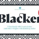 Blacker Font Family Free