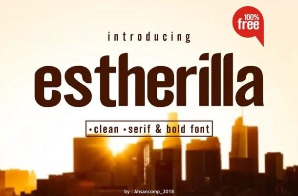 Estherilla Typeface Free