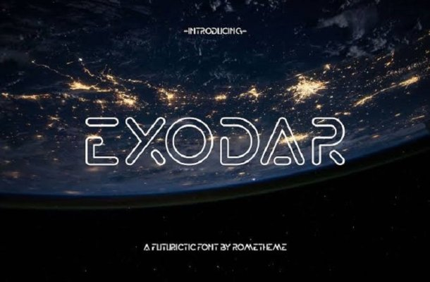 Exodar Typeface Free