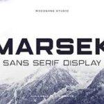 Marsek Sans Serif Font Free