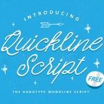 Quickline Handwritten Script Font