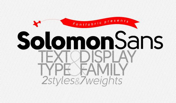 Solomon Sans Font Family Free