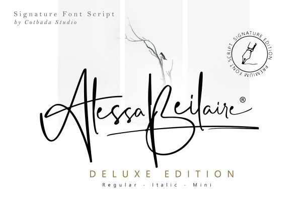 Alessa Beilaire Deluxe Edition Font Free