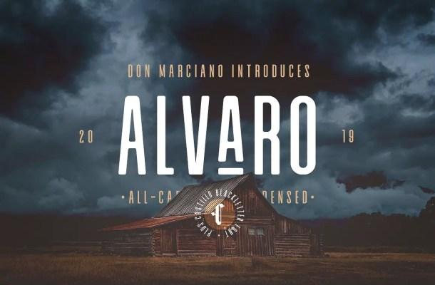 Alvaro Condensed Font Duo Free