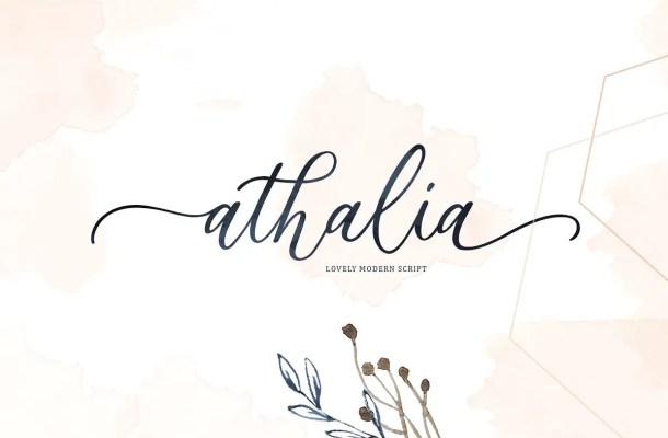 Athalia Script Font Free