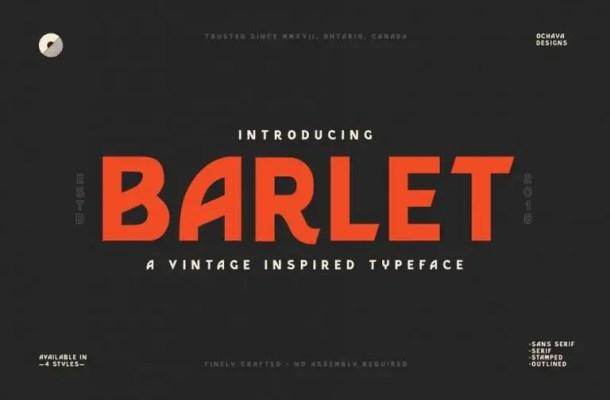 Barlet Typeface Free