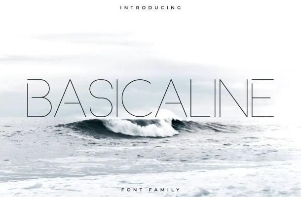 Basicaline Font Family Free
