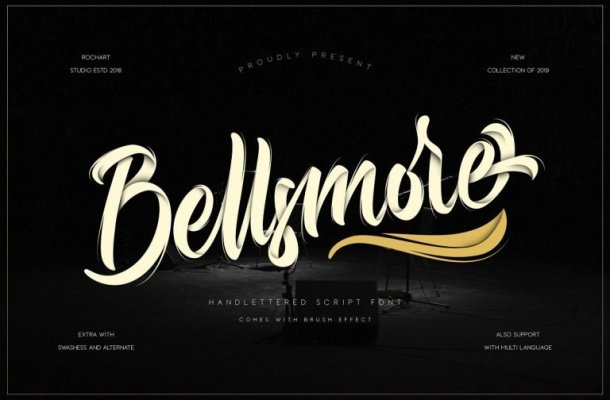 Bellsmore Brush Font Free