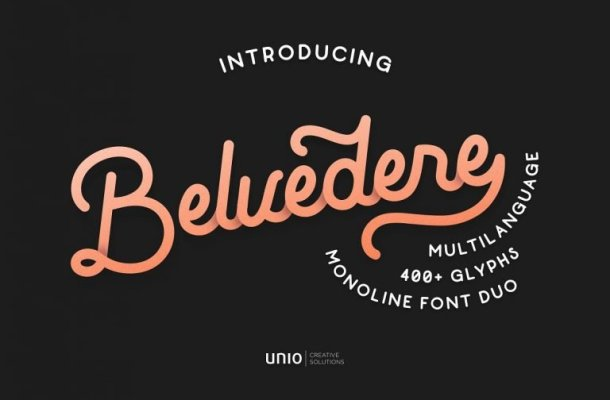 Belvedere Font Duo Free