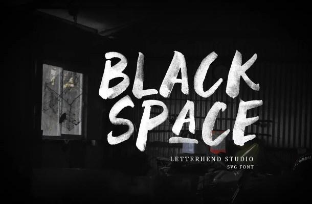 Black Space SVG Font Free