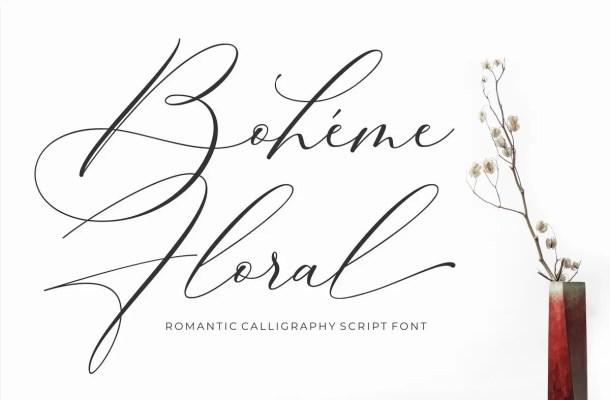 Boheme Floral Script Font Free