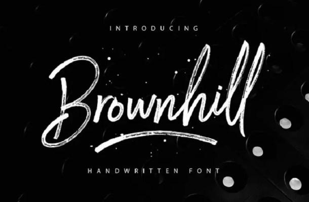Brownhill Script Font Free