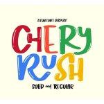 Chery Rush Display Font Free