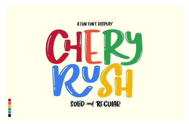 Chery Rush Display Font Free