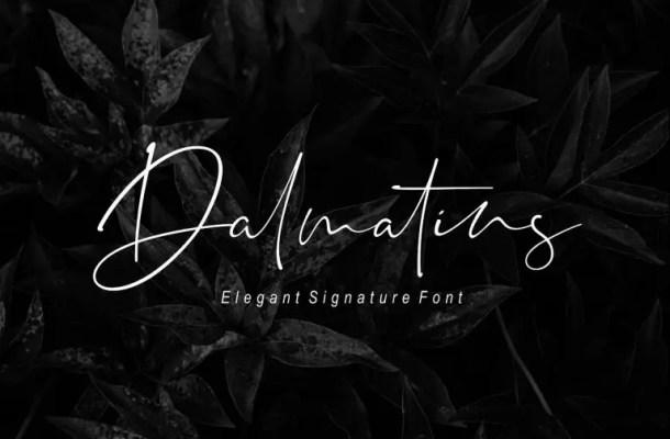 Dalmatins Signature Font Free