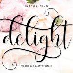 Delight Script Font Free