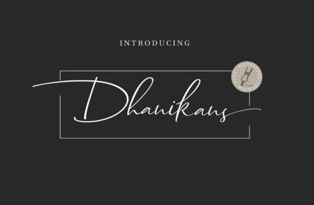 Dhanikans Signature Font Free