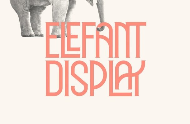 Elephant Display Font Free