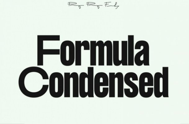 Formula Consensed Font Family Free
