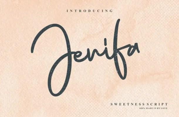 Jenifa Script Font Free
