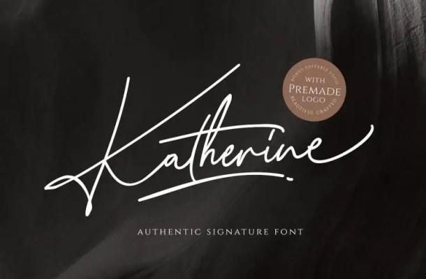 Katherine Signature Font Free