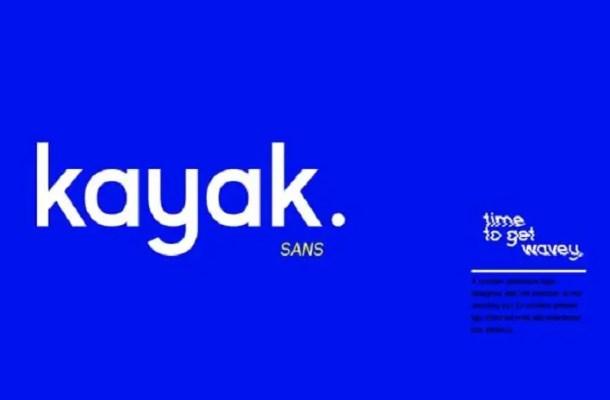 Kayak Sans Typeface Free