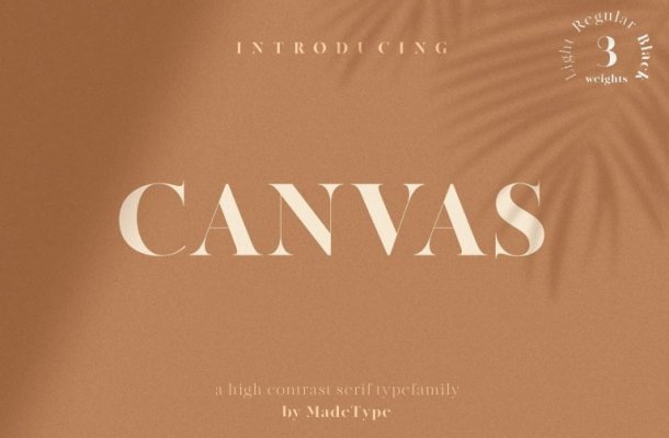 MADE Canvas Serif Font Free