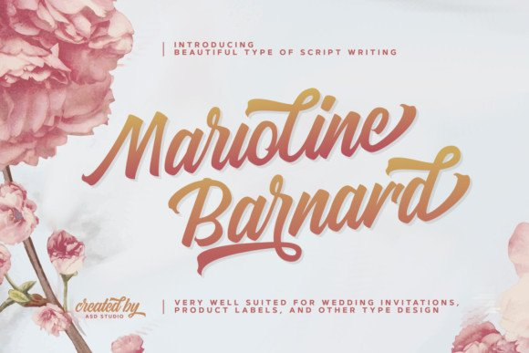 Marioline Barnard Script Font Free