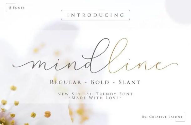 Mindline Script Font Free