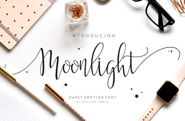 Moonlight Script Font Free