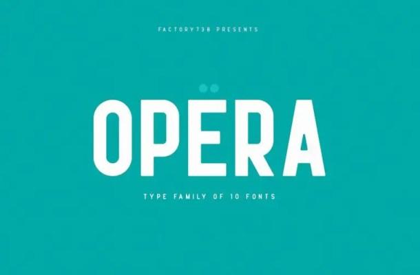 Opera Font Family Free