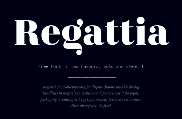 Regattia Typeface Free