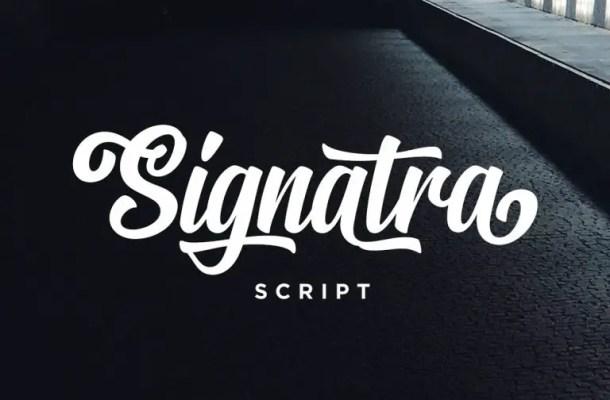 Signatra Script Font Free