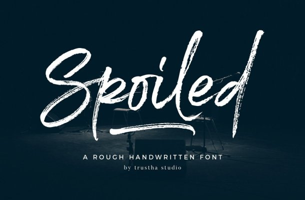 Spoiled Brush Font Free
