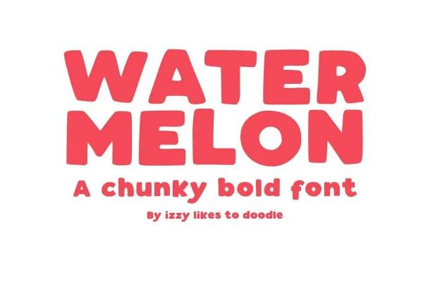 Watermelon Bold Font Free