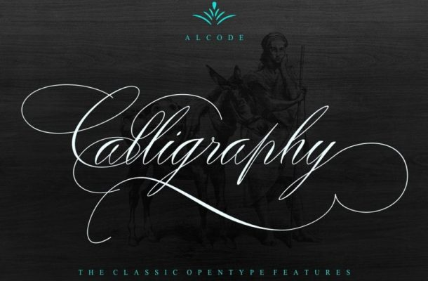 Peaches Calligraphic font Free