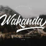 Wakanda Script Font Free